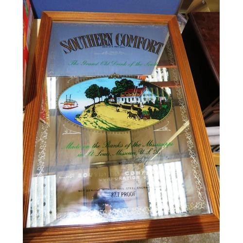 50 - LARGE SOUTHERN COMFORT - ADVERTISING MIRROR...