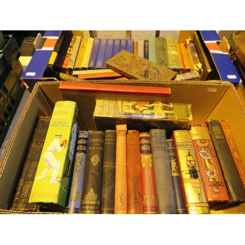 196 - TWO BOXES OF - ANTIQUE AND VINTAGE BOOKS...