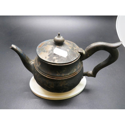 230 - STERLING SILVER HALLMARKED TEA POT - APPROXIMATE COMBINED WEIGHT 296G...