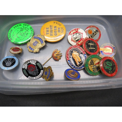 241 - SIXTEEN - MINERS AND MINERS STRIKE - RELATED BADGES...
