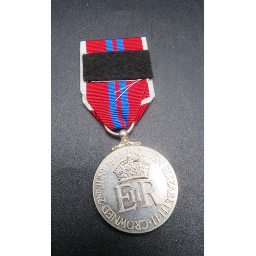 260 - SILVER CORONATION MEDAL - DATED 1953...