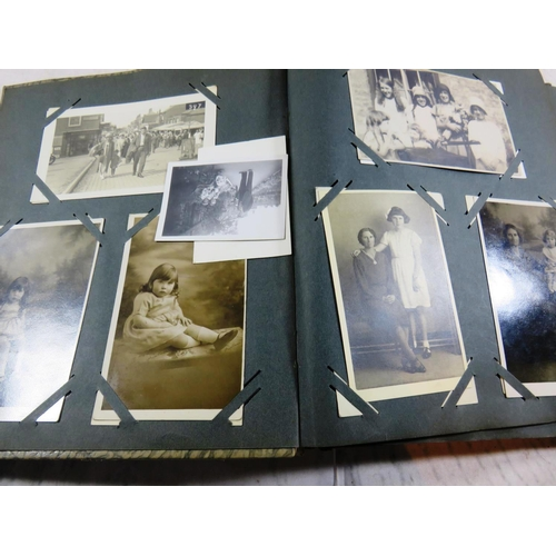289 - ALBUM CONTAINING - MIXED PHOTOGRAPHS AND POSTCARDS...