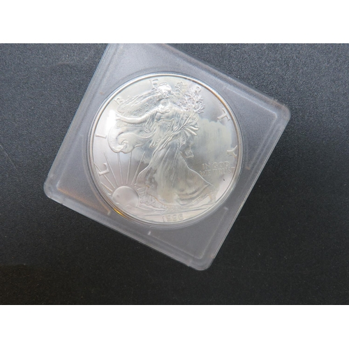 290 - FOUR 1OZ - SOLID SILVER COINS...
