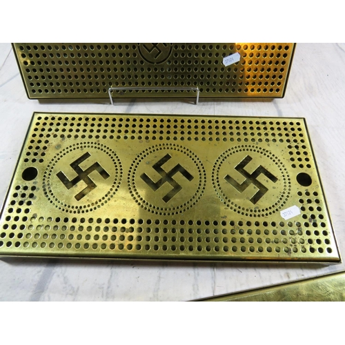 364 - GERMAN BRASS TONE - DRIP TRAYS...