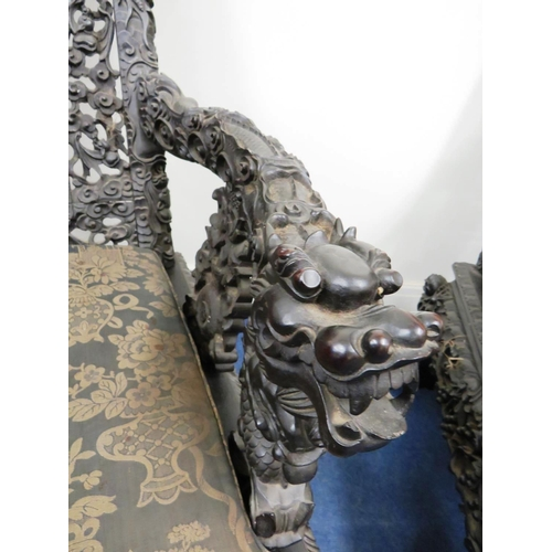 86 - ANGLO INDIAN ? POSSIBLE JAPANESE MEIJI PERIOD CHAIR...
