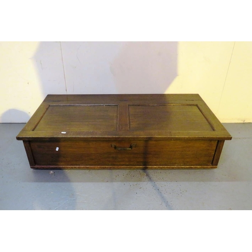162 - ANTIQUE WOODEN UNDER BED STORAGE BOX/BLANKET BOX...
