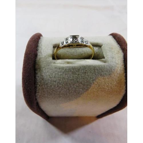 255 - 18CT ART DECO DIAMOND RING...