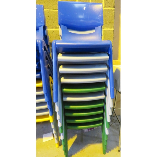 9 - TEN STACKABLE EVENT CHAIRS...