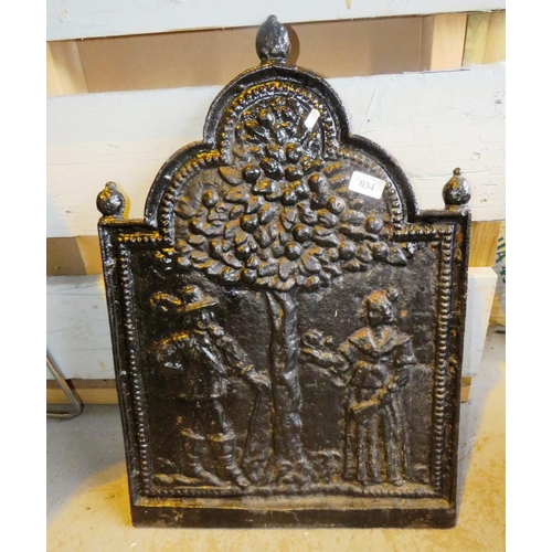 34 - VINTAGE CAST METAL PLAQUE...