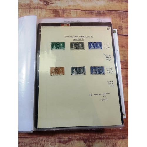292 - 22 SHEETS OF OLD GB AND MODERN STAMPS INCLUDING B/CW MINT AND USED...