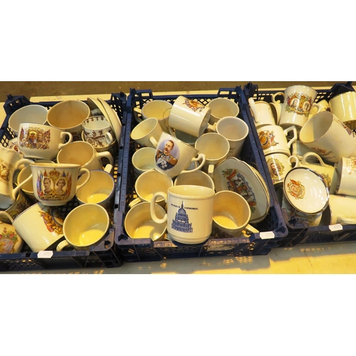 433 - COLLECTION  OF ROYAL MEMORABILIA CUPS, MUGS AND SAUCERS...