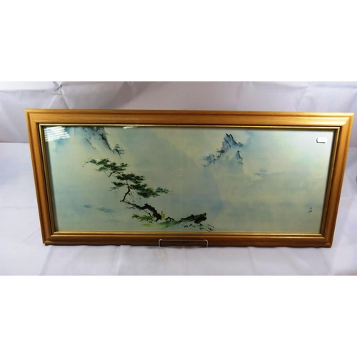 61 - WATER COLOUR PAINTING SHANGRI -LA BY TYRUS WONG...