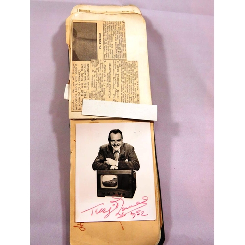 300 - AUTOGRAPH BOOK OF ASSORTED SPORTING AND ENTERTAINMENT AUTOGRAPHS FROM 1949 ONWARDS INCLUDES FOOTBALL...