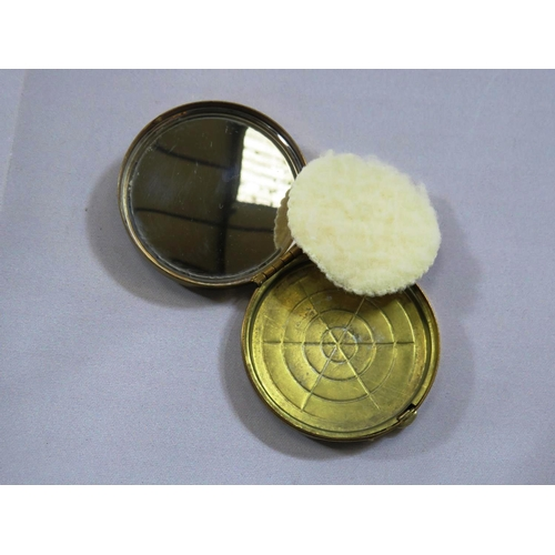 346 - VINTAGE NAVAL SWEETHEART POWDER COMPACT - HMS SCARBOROUGH...
