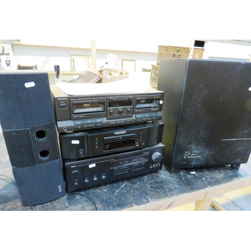 510 - RETRO MUSIC PLAYERS, AMPS AND SPEAKER INCLUDES TECHNICS...