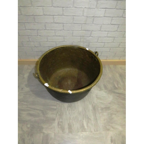 26 - 19TH CENTURY BRASS LOG BIN 55CM DIAMETER...