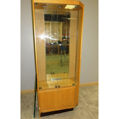 38 - DISPLAY CABINET WITH SHELVES...