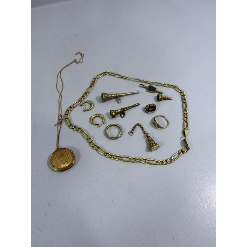 337 - GOOD LOT POCKET WATCH KEYS INCLUDING GOLD TOTAL WEIGHT- 69G...