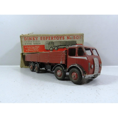 310 - DINKY SUPERTOYS No 501 FODEN DIESEL EIGHT WHEEL WAGON IN ORIGINAL BOX...