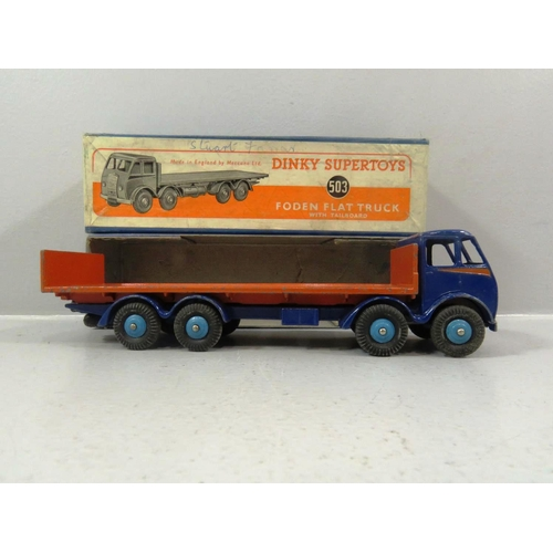 374 - DINKY FODEN FLAT TRUCK WITH TAILBOARD No 503 - ORIGINAL BOX...