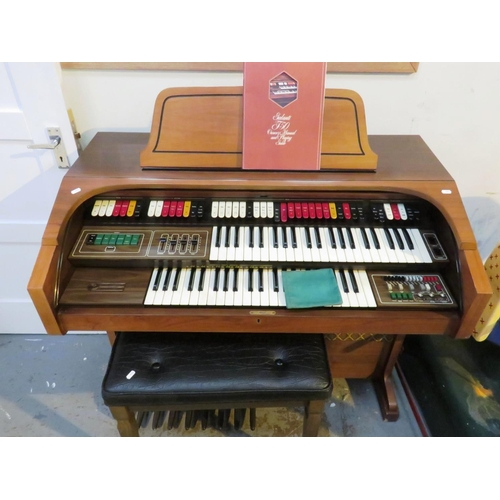 1 - ELECTRIC ORGAN AND STOOL...