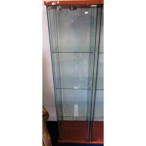 5 - GLASS CABINET WITH KEY...