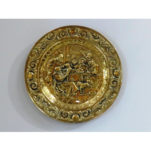 11 - LARGE BRASS WALL PLAQUE...