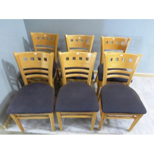 33 - A SET OF SIX CHAIRS...