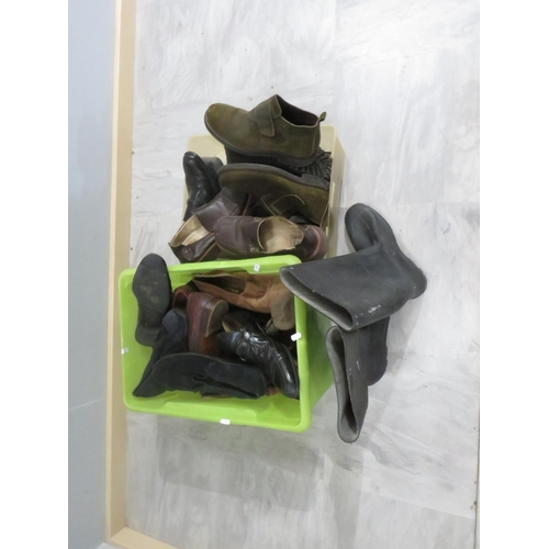 50 - TWO BOXES OF SHOES TO INCLUDE EMPORIO ARMARNI...