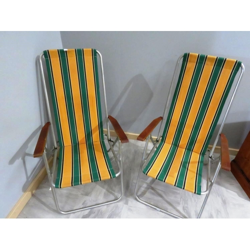 54 - TWO FOLDING CHAIRS...