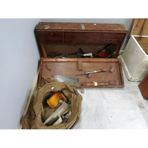 167 - LARGE SELECTION OF CARPENTERS TOOLS AND BOXES...