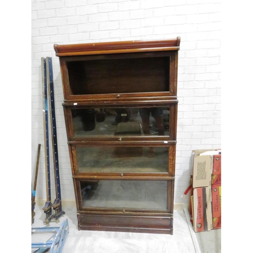 189 - ANTIQUE BAKERS CABINET...