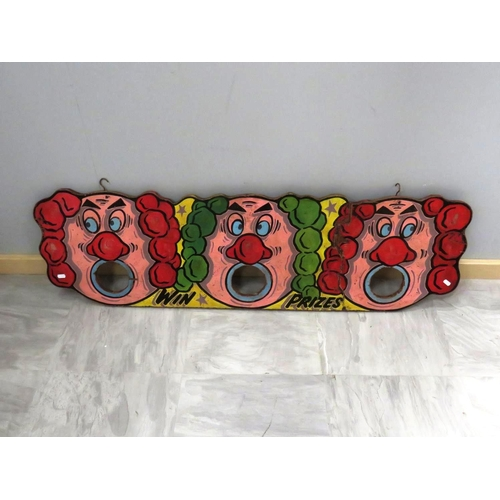 317 - LARGE HAND PAINTED THICK HARDWOOD FAIRGROUND GAME -  WIN PRIZES...