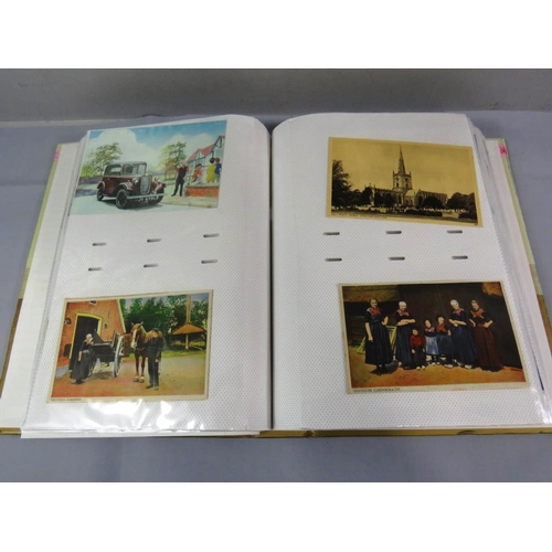 5 - POSTCARD ALBUM WITH TWO HUNDRED POSTCARDS...
