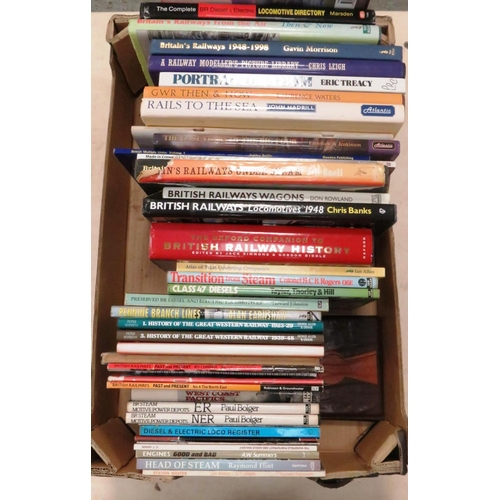 11 - GOOD BOX OF RAILWAY BOOKS...