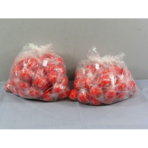 14 - TWO BAGS OF CRICKET STRESS BALL KEYRINGS...