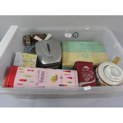 37 - COLLECTION OF VINTAGE ITEMS INCLUDING FIRST AID TIN...