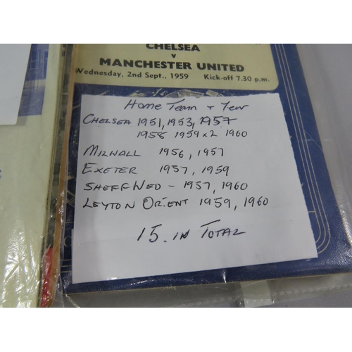 12 - FORTY FIVE FOOTBALL PROGRAMMES ALL ENGLISH CLUBS FROM 1950-1960...