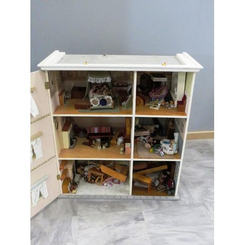 139 - ONE LARGE DOLLS HOUSE STOCKED FULL WITH ACCESSORIES...