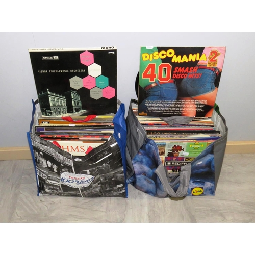 341 - TWO BAGS OF LP'S...