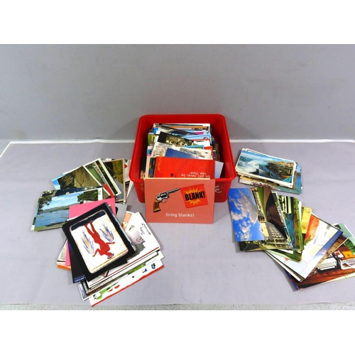 5 - BOX OF ASSORTED POSTCARDS...