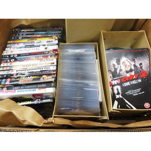 8 - BOX OF DVDS...