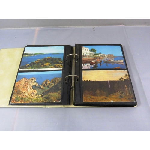 9 - POSTCARD ALBUM STOCKED WITH ASSORTED POSTCARDS...