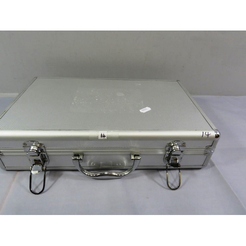 25 - METAL COLLECTORS CASE AND VARIOUS CONTENTS...