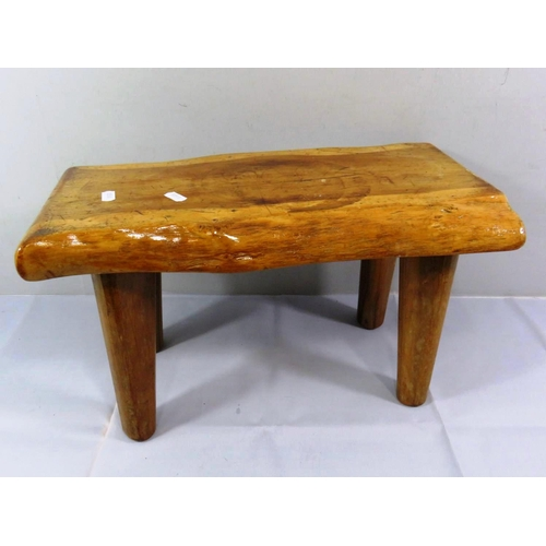 29 - CHILDS WOODEN STOOL...