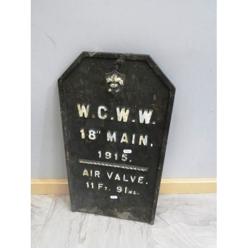 30 - CAST 1915 AIR VALVE PLAQUE/SIGN...