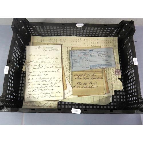 46 - COLLECTION OF OLD HAND WRITTEN EPHEMERA...