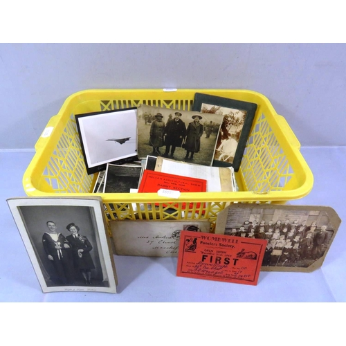 52 - COLLECTION OF OLD PHOTOGRAPHS AND EPHEMERA...