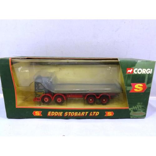 53 - CORGI BOXED EDDIE STOBART EIGHT WHEEL PLATFORM LORRY...