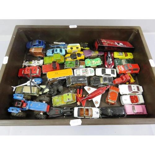 59 - BOX OF PLAY WORN DIECAST VEHICLES...